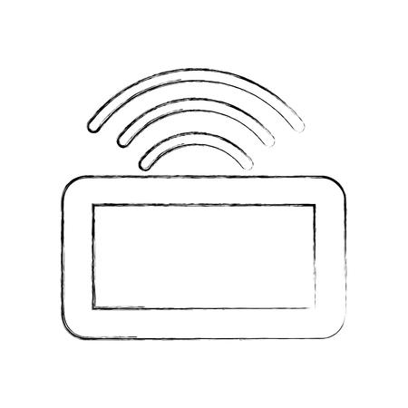 드론 리모컨 아이콘 벡터 일러스트 레이션 디자인