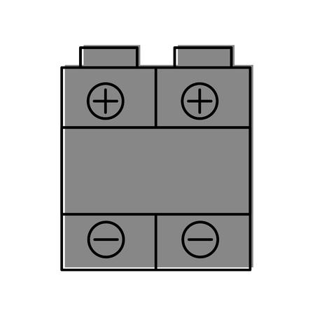 バッテリ電源分離アイコン ベクトル イラスト デザイン 写真素材 - 81810709