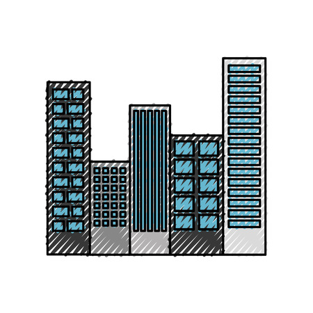 buildings cityscape scene icon vector illustration design