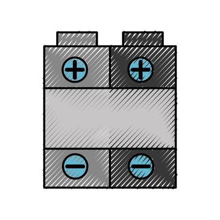 バッテリ電源分離アイコン ベクトル イラスト デザイン  イラスト・ベクター素材