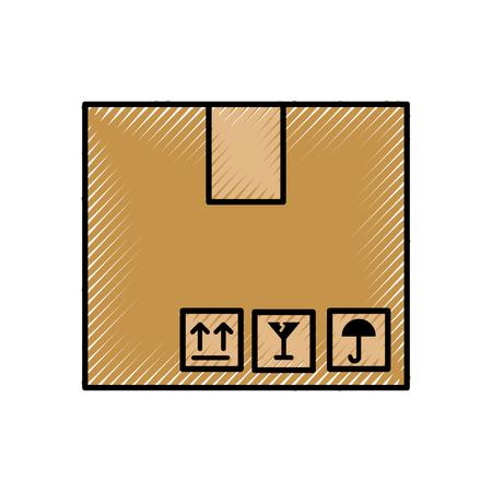 box carton isolated icon vector illustration design 版權商用圖片 - 81813412