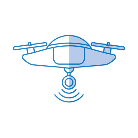 hommelvliegentechnologie met ontwerp van de camera het vectorillustratie Stock Illustratie