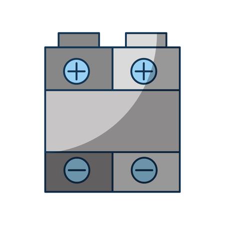 배터리 전원 아이콘 벡터 일러스트 디자인 절연