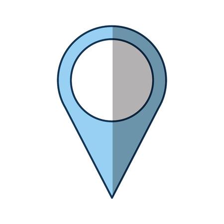 pin pointer location icon vector illustration design