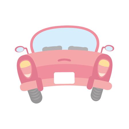 車のアイコン ベクトル イラスト デザインの背面