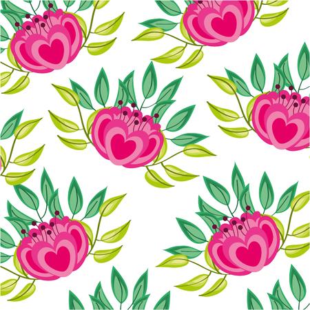 elegant vector de illustratieontwerp van het bloemen decoratief patroon