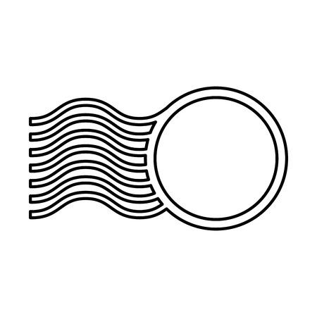 リングと波フレーム ベクトル イラスト デザイン  イラスト・ベクター素材