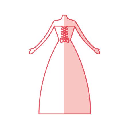 Mujer vestido de boda icono de diseño de ilustración vectorial Foto de archivo - 81814393