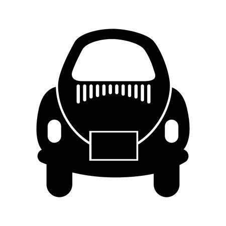 자동차 아이콘 벡터 일러스트 디자인의 후면 스톡 콘텐츠 - 81813386