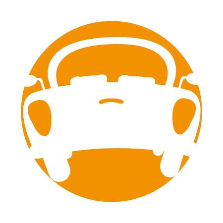 Achterkant van de auto pictogram vector illustratie ontwerp Stock Illustratie