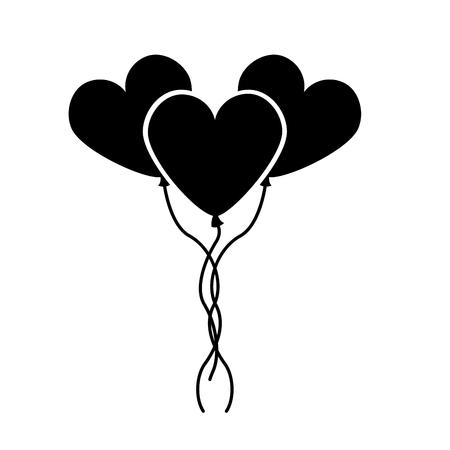Herzförmiges Partyballonvektor-Illustrationsdesign Standard-Bild - 81814431