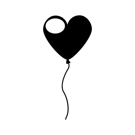 Heart shaped party balloons vector illustration design