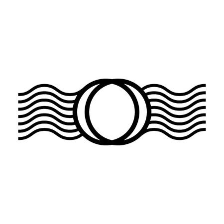 Anneau et vagues cadre conception illustration vectorielle Banque d'images - 81814428