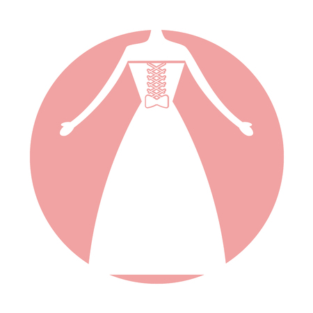 hangers: Female wedding dress icon vector illustration design Illustration
