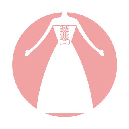 Mujer vestido de boda icono de diseño de ilustración vectorial Foto de archivo - 81814071