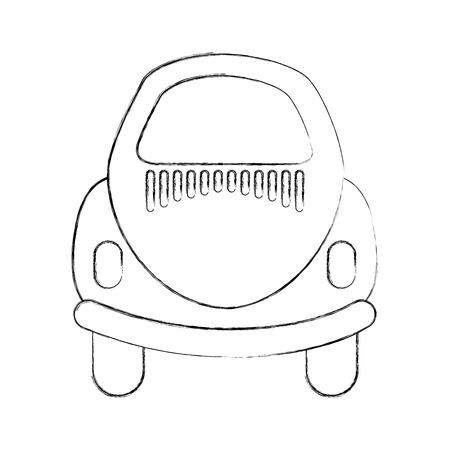 Rear of car icon vector illustration design