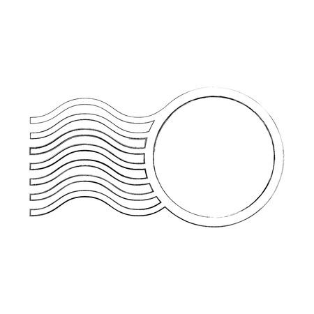 Anneau et vagues cadre conception illustration vectorielle Banque d'images - 81814041