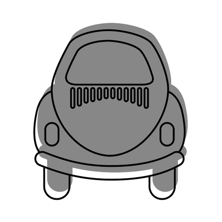 Rear of car icon vector illustration design