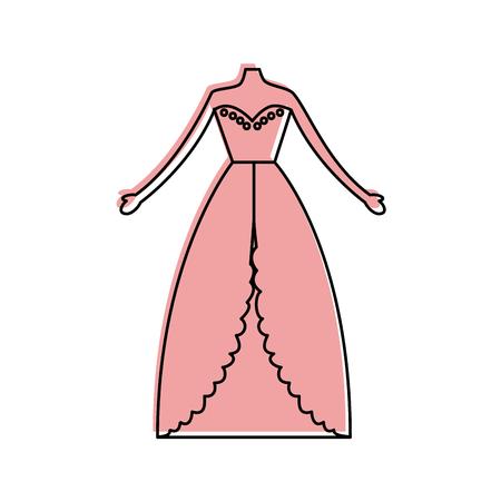 Female wedding dress icon vector illustration design Ilustração