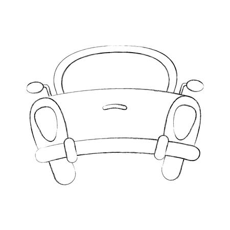 자동차 아이콘 벡터 일러스트 디자인의 후면 일러스트