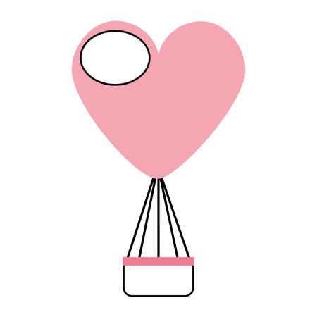 バルーンの空気の心臓形状のベクター イラスト ホット