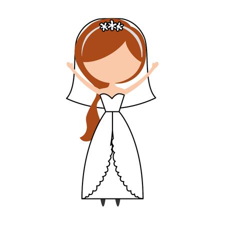 Linda esposa avatar carácter ilustración vectorial diseño Foto de archivo - 81814602