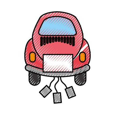 Car of newlyweds icon vector illustration design