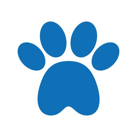 Masque d'empreinte de patte isolé icône design d'illustration vectorielle Banque d'images - 81844239
