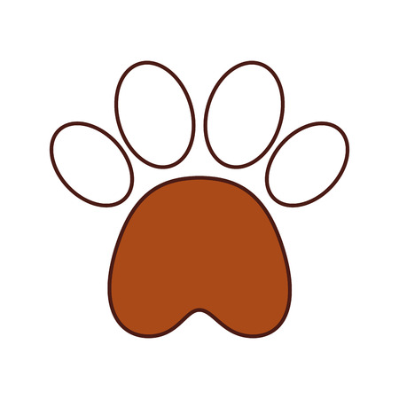 paw footprint mascot isolated icon vector illustration design