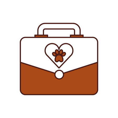 portfolio with paw animal icon vector illustration design Çizim