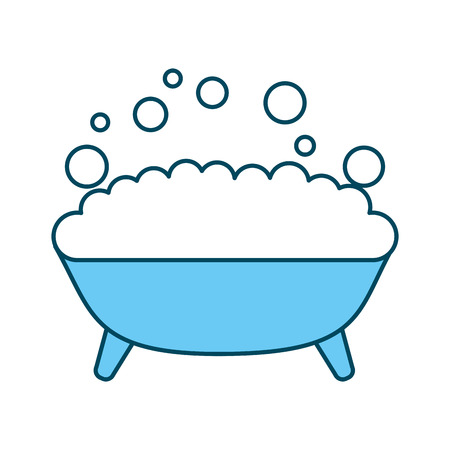 Tub with foam icon vector illustration design