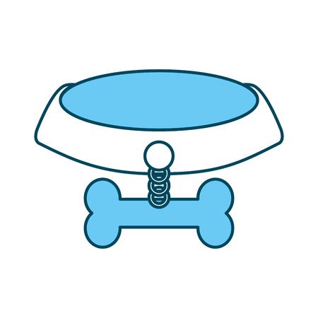 pet collar with bone icon vector illustration design Stock Vector - 81844508