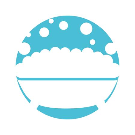 Tub met schuim icoon vector illustratie ontwerp Stock Illustratie