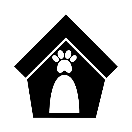Maison mascotte isolé icône vector illustration design Banque d'images - 81844442