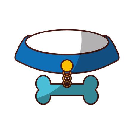 pet collar with bone icon vector illustration design Illusztráció