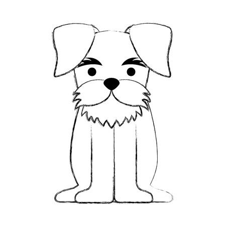 purebred: cute dog mascot icon vector illustration design