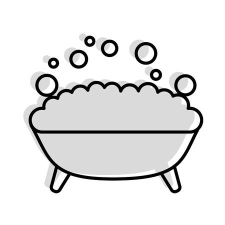 Tina con espuma icono de diseño de ilustración vectorial Foto de archivo - 81845838
