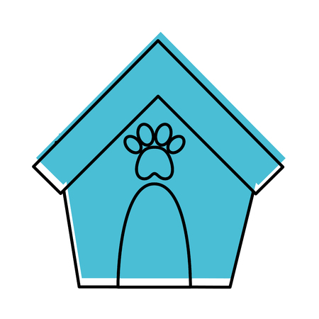 house mascot isolated icon vector illustration design Illustration