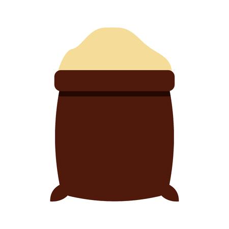 설탕 자루 절연 아이콘 벡터 일러스트 디자인