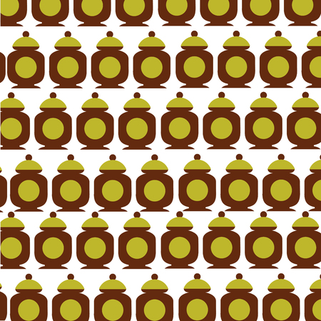 sugar pot pattern background vector illustration design Illusztráció