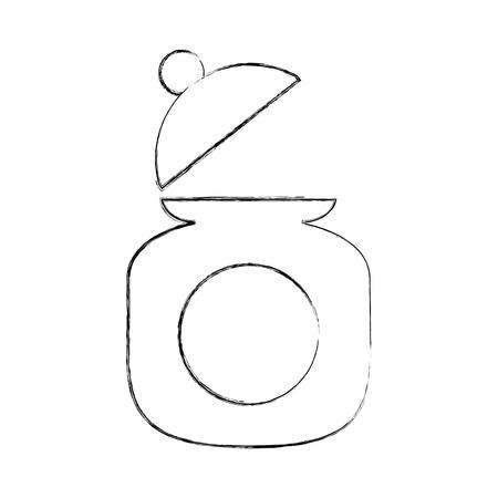 Zucker Topf isoliert Symbol Vektor-Illustration Design Standard-Bild - 81846565