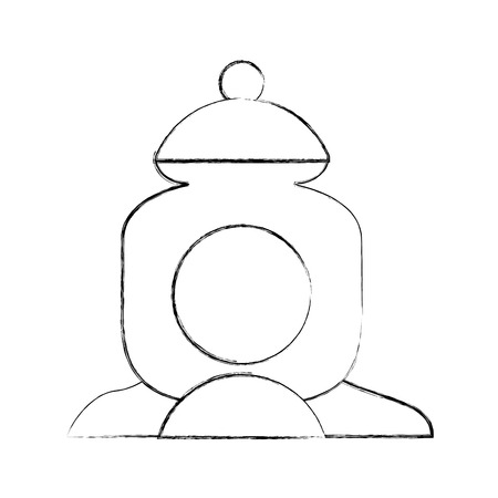 suiker pot geïsoleerde pictogram vectorillustratieontwerp Stock Illustratie