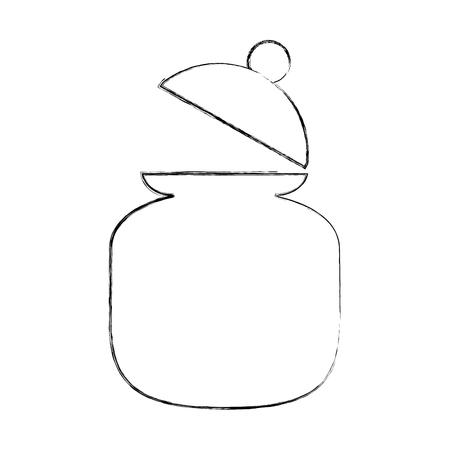 Zucker Topf isoliert Symbol Vektor-Illustration Design Standard-Bild - 81846647