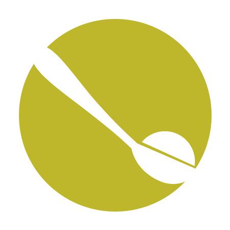 Löffel mit Zucker Pulver Vektor-Illustration Design Standard-Bild - 81846894