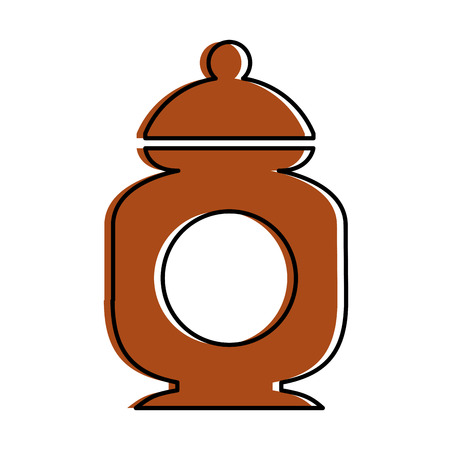 sugar pot isolated icon vector illustration design Ilustração