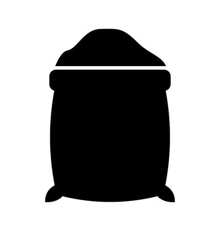 Suikerzak geïsoleerd pictogram vector illustratie ontwerp Stock Illustratie