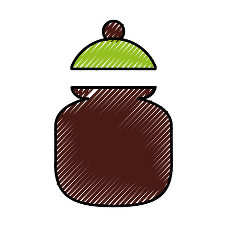 설탕 냄비 절연 아이콘 벡터 일러스트 디자인