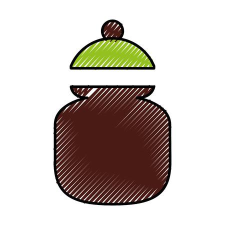Zucker Topf isoliert Symbol Vektor-Illustration Design Standard-Bild - 81847251