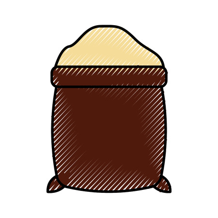 sugar sack isolated icon vector illustration design