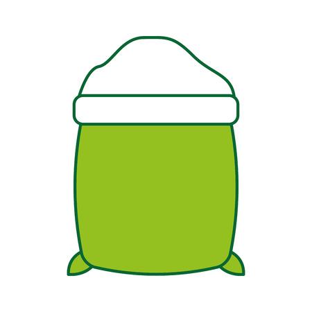 砂糖袋分離アイコン ベクトル イラスト デザイン